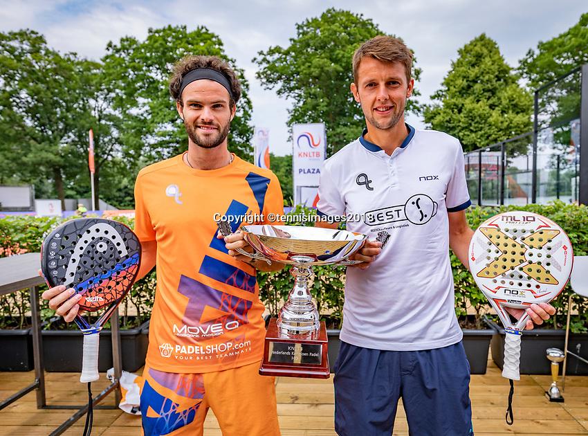 Den Bosch, Netherlands, 16 June, 2018, Tennis, Libema Open, Padel prizegiving<br /> Photo: Henk Koster/tennisimages.com