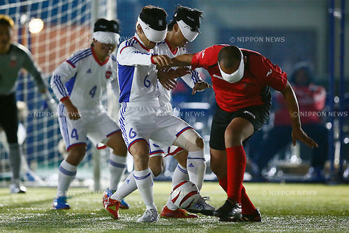 Yasuhiro Sasaki (JPN), NOVEMBER 18, 2014 - Football 5-a-sider : IBSA Blind Football World Championships 2014 Group A match between Japan 0-0 Morocco at National Yoyogi Stadium Futsal Court, Tokyo, Japan. [1180]