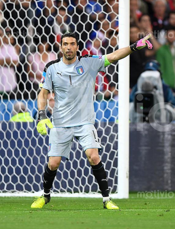 FUSSBALL EURO 2016 GRUPPE E IN LYON Belgien - Italien          13.06.2016 Gianluigi Buffon (Italien)