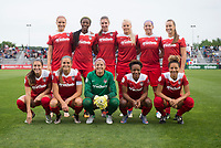Boyds, MD - Saturday May 20, 2017: Washington Spirit Starting XI during a regular season National Women's Soccer League (NWSL) match between the Washington Spirit and FC Kansas City at Maureen Hendricks Field, Maryland SoccerPlex.