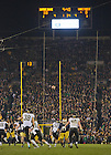 Nov. 17, 2012; Wake Forest punts the ball away late in the 38-0 win.