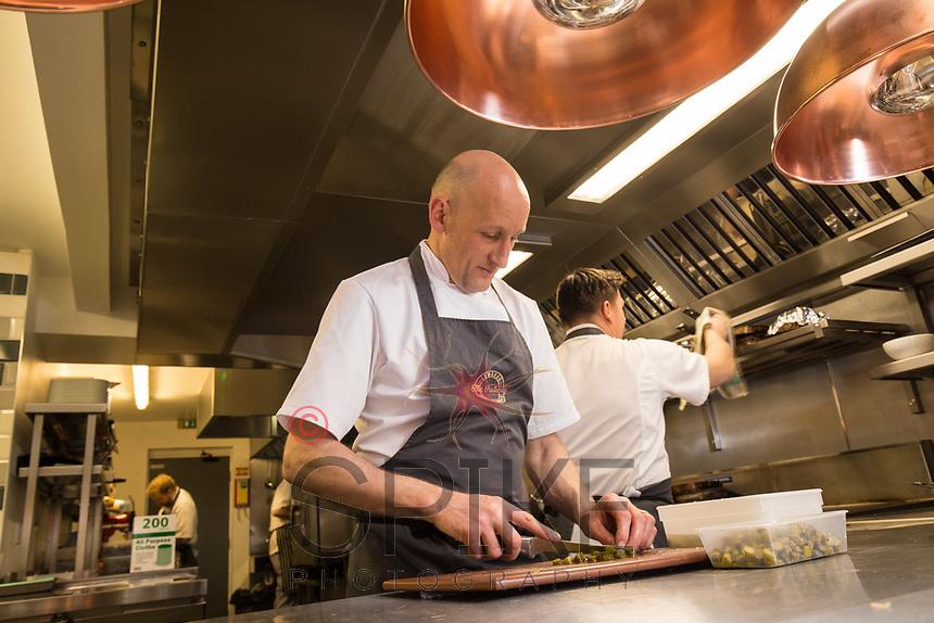 Mark Osborne, chef and co-licencee of The Railway, Lowdham, Nottingham