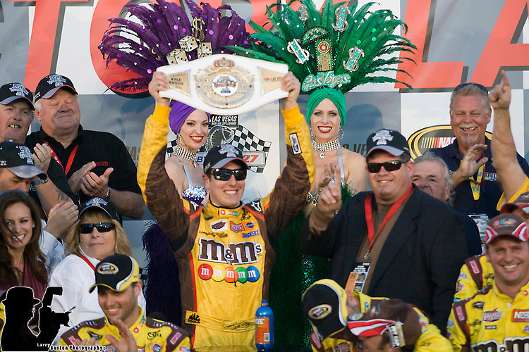Shelby 427 NASCAR Sprint Cup Series race, won by Las Vegas native Kyle Busch.photo