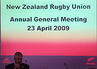NZRU CEO Steve Tew. 2009 New Zealand Rugby Union AGM at NZRU Head Office, Wellington, New Zealand on Thursday, 23 April 2009. Photo: Dave Lintott / lintottphoto.co.nz