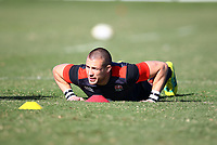 Mike Brown (Harlequins) during the England Rugby training session at  Jonsson Kings Park Stadium,Durban.South Africa. 05,06,2018 Photo by Steve Haag)