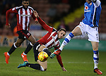Billy Sharp of Sheffield Utd during the English League One match at Bramall Lane Stadium, Sheffield. Picture date: November 29th, 2016. Pic Simon Bellis/Sportimage