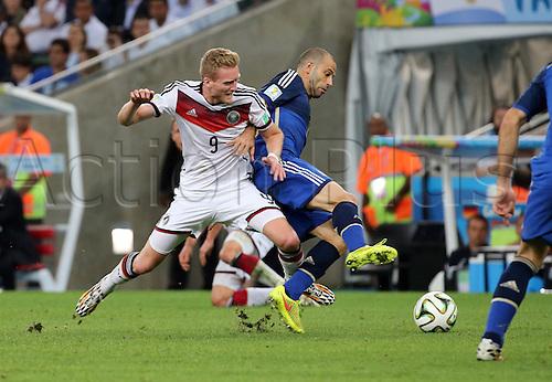 13.07.2014. Rio de Janeiro, Brazil. World Cup Final. Germany v Argentina. Schuerrle and Mascherano