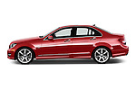 Driver side profile view of a 2013 Mercedes-Benz C250 Sport Sedan Stock Photo