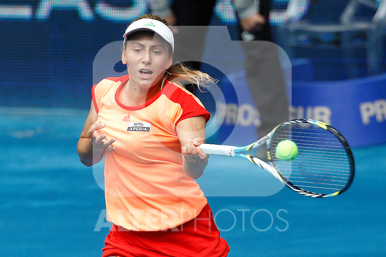 Ksenia Pervak during Mutua Madrid Open 2012 match on may 6th 2012...Photo: Cesar Cebolla / ALFAQUI