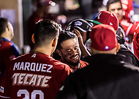 Alfredo Amezaga se despide del beisbol con su ultimo turno al bat durance la Serie del Caribe .<br /> <br /> Baseball game of the Caribbean Series, with the match between the Tomateros of Culiacan of Mexico against the Cibae&ntilde;as Eagles of the Dominican Republic at the Pan American Stadium in Guadalajara, Mexico, Tuesday 6 Feb 2018.<br /> (Photo: Luis Gutierrez)<br /> <br /> Partido de beisbol de la Serie del Caribe con el encuentro entre los Tomateros de Culiacan de Mexico contra las &Aacute;guilas Cibae&ntilde;as  de Republica Dominicana  en estadio Panamericano en Guadalajara, M&eacute;xico, Martes 6 feb 2018. <br /> (Foto: Luis Gutierrez)