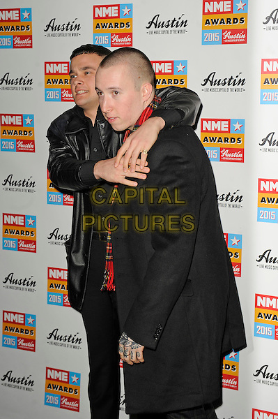 LONDON, ENGLAND - FEBRUARY 18: Slaves attending the NME Awards at Brixton Academy on February 18 2015 in London, England.<br /> CAP/MAR<br /> &copy; Martin Harris/Capital Pictures