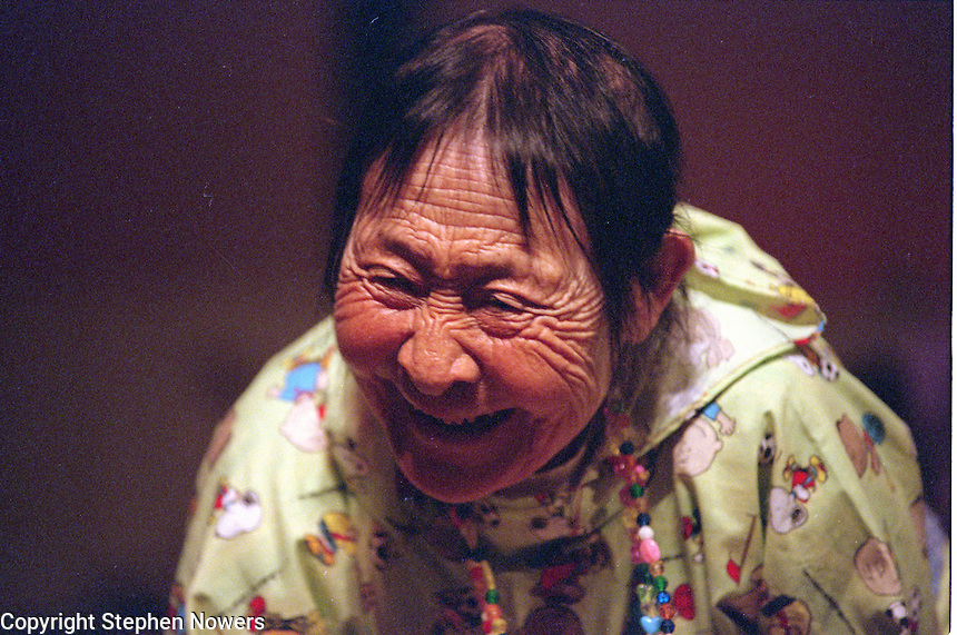 Elder MaryAnn Sundown at Bethel's Camai dance festival in 2002.