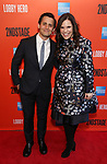 """Benj Pasek and Lindsay Mendez attending the Broadway Opening Night Performance of  """"Lobby Hero"""" at The Hayes Theatre on March 26, 2018 in New York City."""