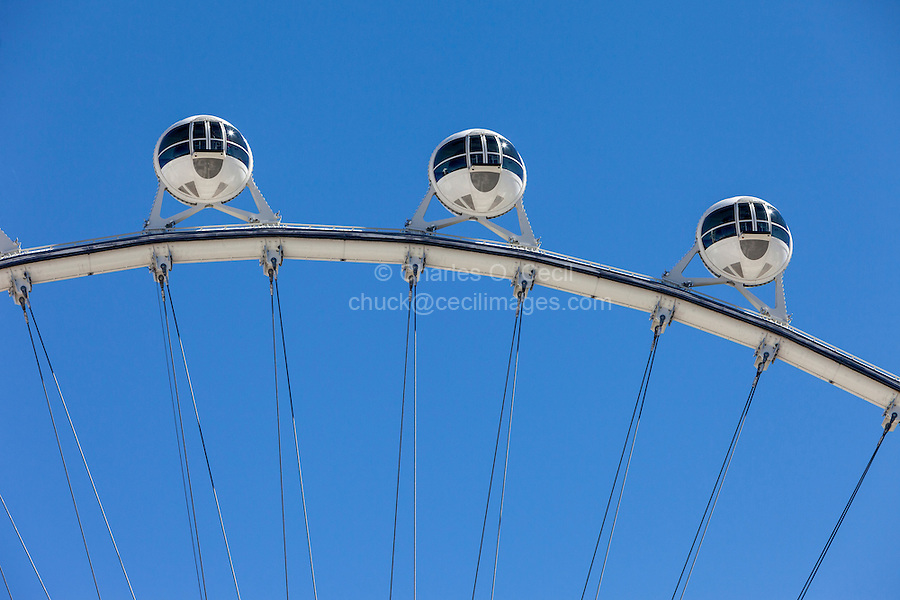Las Vegas, Nevada.  High Roller, the world's tallest observation wheel as of 2015.