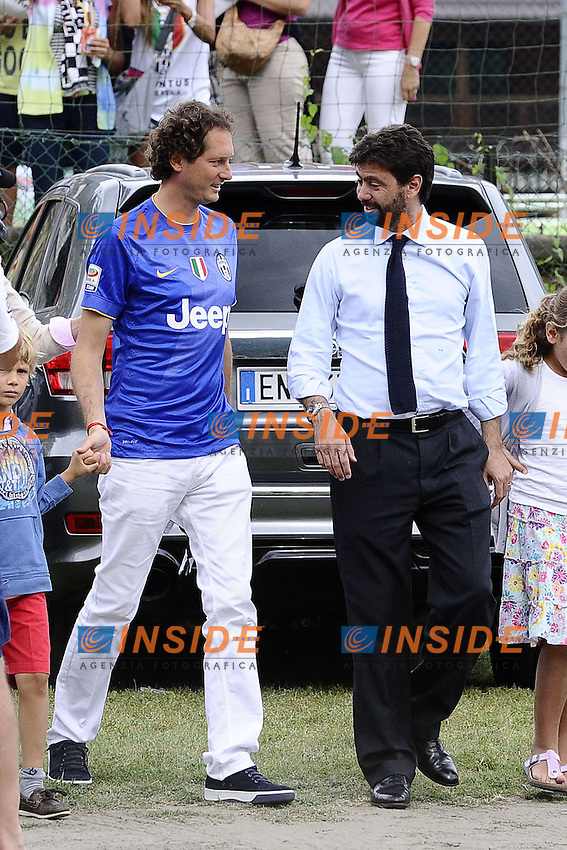 John Elkann, Andrea Agnelli<br /> Villar Perosa (Torino) 20-08-2014 <br /> Football Calcio Friendly Match Juventus A Vs Juventus B  foto Daniele Buffa/Image Sport/Insidefoto