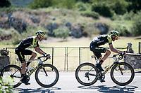 Damien Howson (AUS/Mitchelton-Scott) & Luka Mezgec (SLO/Mitchelton Scott)<br /> <br /> Stage 14: San Vicente de la Barquer to Oviedo (188km)<br /> La Vuelta 2019<br /> <br /> ©kramon