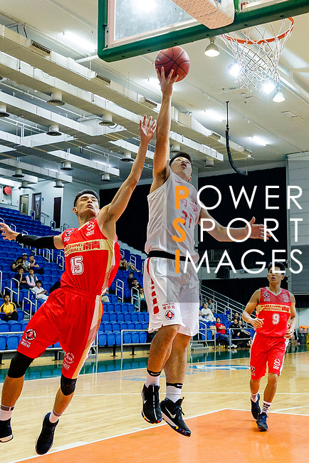 Lin Ho Chun #31 of South China Athletic Association Men's Basketball Team tries to score during the Hong Kong Basketball League game between SCAA and Nam Ching at Southorn Stadium on May 4, 2018 in Hong Kong. Photo by Yu Chun Christopher Wong / Power Sport Images