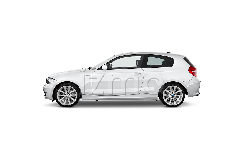 Driver side profile view of a 2007 - 2011 BMW 1-Series 123d 3 Door Hatchback 2WD.