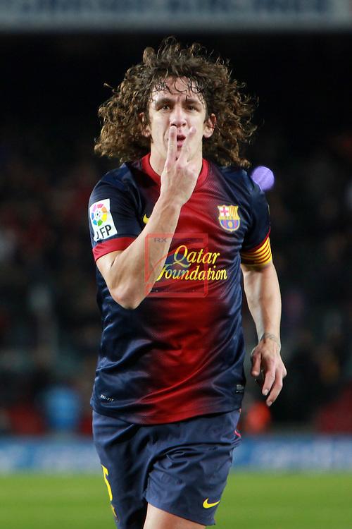 Carles Puyol. FC Barcelona vs Malaga CF: 2-2