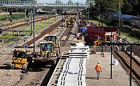Nederland  Amsterdam - 2019. Werkzaamheden aan het spoor. Station Sloterdijk. .  Berlinda van Dam / Hollandse Hoogte