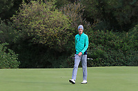 Tiernan McLarnon from Ireland at the 16th green during Round 2 Singles of the Men's Home Internationals 2018 at Conwy Golf Club, Conwy, Wales on Thursday 13th September 2018.<br /> Picture: Thos Caffrey / Golffile<br /> <br /> All photo usage must carry mandatory copyright credit (&copy; Golffile | Thos Caffrey)