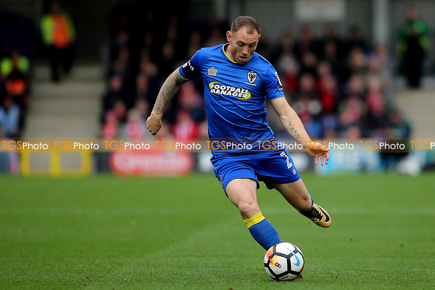 Barry Fuller of AFC Wimbledon during AFC Wimbledon vs Lincoln City, Emirates FA Cup Football at the Cherry Red Records Stadium on 4th November 2017