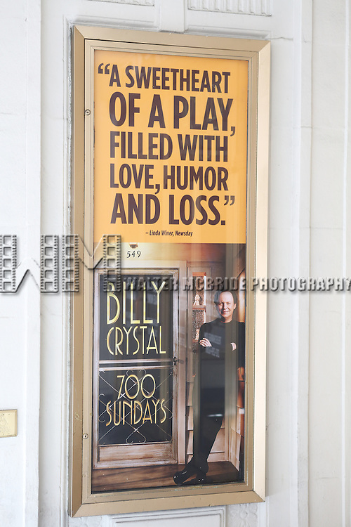 Theatre Marquee unveiling for Billy Crystal's return to Broadway in 'Billy Crystal 700 Sundays'. The play is performed and written by Billy Crystal Crystal, and directed by two-time Tony Award winner Des McAnuff. at The Imperial Theatre on September 23, 2013 in New York City.
