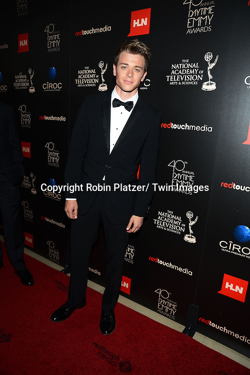 Chad Duell attends The 40th Annual Daytime Emmy Awards on<br />  June 16, 2013 at the Beverly Hilton Hotel in Beverly Hills, California.