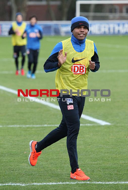 03.01.2014, Sportpark, Berlin, GER, 1.FBL, Hertha BSC , Training, im Bild Ronny (Hertha BSC Berlin)<br /> <br />               <br /> Foto &copy; nordphoto /  Schulz