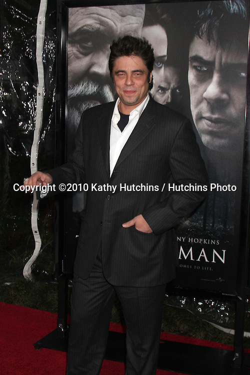 Benicio Del Toro.arrivng at the premiere of The Wolfman..Arclight Hollywood.Los Angeles, CA.February 9, 2010.©2010 Kathy Hutchins / Hutchins Photo....