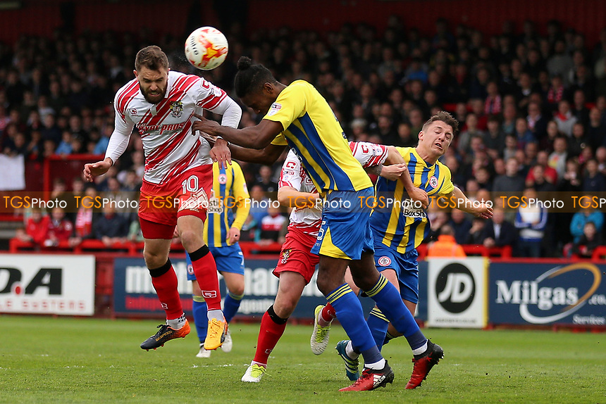 Josh McQuoid of Stevenage goes close during Stevenage vs Accrington Stanley, Sky Bet EFL League 2 Football at the Lamex Stadium on 6th May 2017