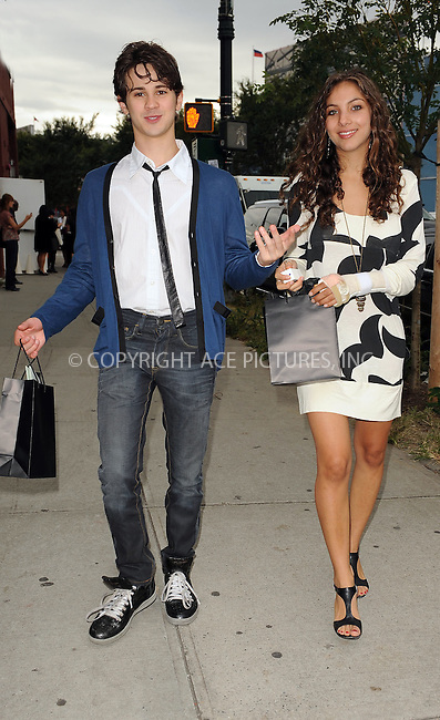 WWW.ACEPIXS.COM . . . . . ....September 16 2009, New York City....Actor Connor Paolo (L) arriving at the Marchesa Spring 2010 presentation as part of Mercedes Benz Fashion Week on September 16 2009 in New York City....Please byline: KRISTIN CALLAHAN - ACEPIXS.COM.. . . . . . ..Ace Pictures, Inc:  ..tel: (212) 243 8787 or (646) 769 0430..e-mail: info@acepixs.com..web: http://www.acepixs.com