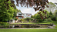 BNPS.co.uk (01202 558833)<br /> Pic: MrAndMrsClarke/BNPS<br /> <br /> Reflecting on its historic past... <br /> <br /> A luxury house on an English country estate where the Allies plotted the infamous assassination of one of Adolf Hitler's top henchmen has gone on the market.<br /> <br /> Rooftops, a Norwegian-style chalet, is located on the Moreton Paddox estate in Warwickshire where 4,000 Czech soldiers were billeted during the Second World War.<br /> <br /> The plot to assasinate Nazi monster SS General Reinhard Heydrich involved two Czech soldiers who parachuted into Prague where they attacked and killed him as he was driven to work. <br /> <br /> His death led to appalling Nazi reprisals on locals, with more than 1,300 men, women and children massacred.<br /> <br /> The Edwardian mansion at Moreton Paddox that was requisitioned for the war effort was later demolished and Rooftops was built on the grounds in 2009.