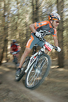07 APR 2007 - THETFORD, UK - Paul Hudson - British Mountain Bike X Country series Round 1 Race 3. (PHOTO (C) NIGEL FARROW)