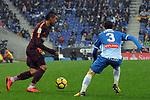 League Santander 2017-2018 - Game: 22.<br /> RCD Espanyol vs FC Barcelona: 1-1.<br /> Paulinho vs Aaron Martin.