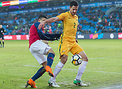 23rd March 2018, Ullevaal Stadion, Oslo, Norway; International Football Friendly, Norway versus Australia; Milos Degenek of Australia holds off a challenge from Mohamed Elyounossi of Norway