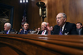 WASHINGTON, DC - SEPTEMBER 27:  Senate Judiciary Committee members (L-R) Sen. John Cornyn (R-TX), Sen. Lindsey Graham (R-SC), Sen. Orrin Hatch (R-UT) and Chairman Charles Grassley (R-IA) question Judge Brett Kavanaugh during his Supreme Court confirmation hearing in the Dirksen Senate Office Building on Capitol Hill September 27, 2018 in Washington, DC. Kavanaugh was called back to testify about claims by Christine Blasey Ford, who has accused him of sexually assaulting her during a party in 1982 when they were high school students in suburban Maryland.  (Photo by Win McNamee/Getty Images)