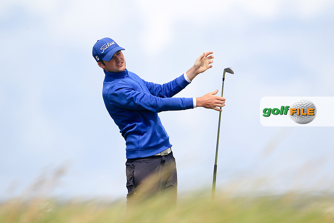 Jake Whelan (Newlands) during the last 16 of the South of Ireland from Lahinch golf club, Lahinch, Co. Clare, Ireland. <br /> Picture: Fran Caffrey / Golffile