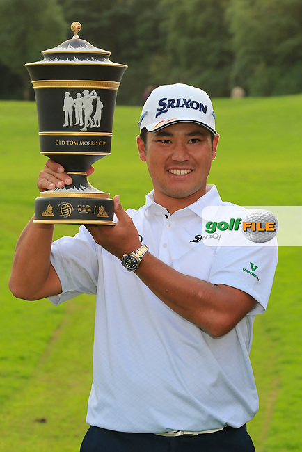 Hideki Matsuyama (JPN) winner of the WGC-HSBC Champions, Sheshan International GC, Shanghai, China PR.  30/10/2016<br /> Picture: Golffile | Fran Caffrey<br /> <br /> <br /> All photo usage must carry mandatory copyright credit (&copy; Golffile | Fran Caffrey)