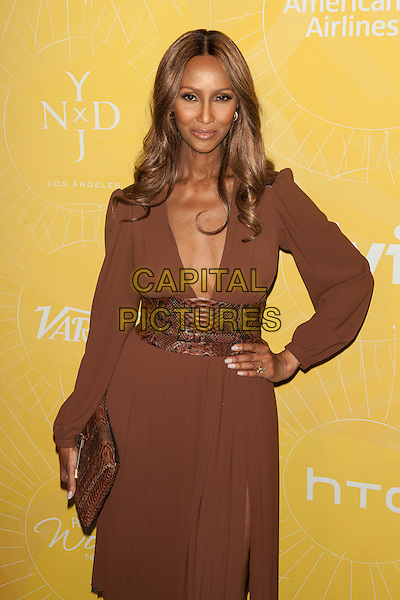 NEW YORK, NY -  APRIL 25: Iman Abdulmajid  attends Variety Power Of Women: New York presented by FYI at Cipriani 42nd Street on April 25, 2014 in New York City.  <br /> CAP/MPI/COR99<br /> &copy;COR99/MPI/Capital Pictures