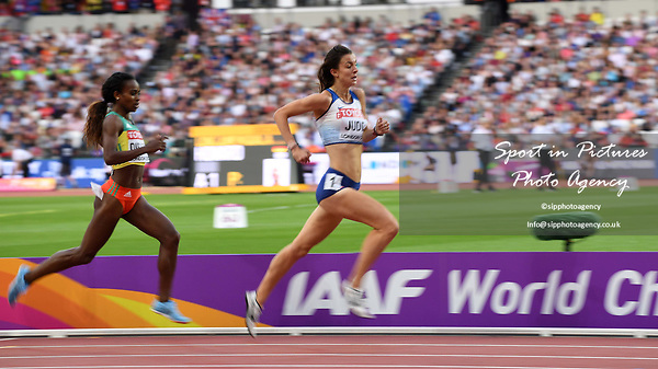 Jessica Judd (GBR) qualifies in the womens 1500m. IAAF World athletics championships. London Olympic stadium. Queen Elizabeth Olympic park. Stratford. London. UK. 04/08/2017. ~ MANDATORY CREDIT Garry Bowden/SIPPA - NO UNAUTHORISED USE - +44 7837 394578