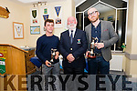 The Ceann Sibeal Captain Prize Day presentation: Cillian Desmond (Junior winner), Captain Frank Murphy and Trevor Harty (Captain's prize winner).