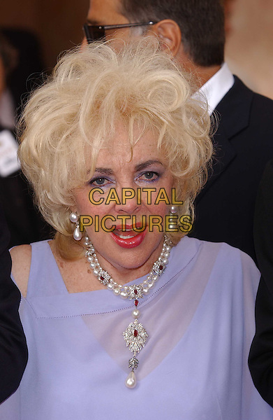 "DAME ELIZABETH TAYLOR.attends screening of ""Giant"" at Olympia cinema.for Aids charity AmFAR.Cannes Film Festival 2003.www.capitalpictures.com.sales@capitalpictures.com.©Capital Pictures.pearl necklace"