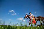 FUCHU,JAPAN-JUNE 03: Mozu Ascot,ridden byChristophe Lemaire ,after winning the Yasuda Kinen at Tokyo Racecourse on June 3,2018 in Fuchu,Tokyo,Japan (Photo by Kaz Ishida/Eclipse Sportswire/Getty Images)