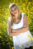 Blonde Girl in The Mustard Field