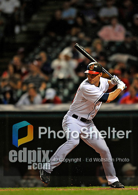 12 September 2008: Cleveland Indians' center fielder Grady Sizemore in action against the Kansas City Royals at Progressive Field in Cleveland, Ohio. The Indians defeated the Royals 12-5 in the first game of their 4-game series...Mandatory Photo Credit: Ed Wolfstein Photo