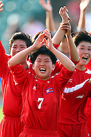Jubilent Korean player KIM Un Ju. USA v Korea Republic. FIFA U-17 Women's World Cup Final. North Harbour Stadium, Auckland, Sunday 16 October 2008. Photo: Simon Watts/PHOTOSPORT