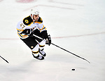24 September 2009: Boston Bruins' defenseman Drew Fata in action against the Montreal Canadiens at the Bell Centre in Montreal, Quebec, Canada. The Bruins edged out the Canadiens in an overtime shootout 2-1 in their pre-season matchup. Mandatory Credit: Ed Wolfstein Photo