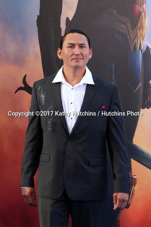 "LOS ANGELES - MAY 25:  Eugene Brave Rock at the ""Wonder Woman"" Los Angeles Premiere at the Pantages Theater on May 25, 2017 in Los Angeles, CA"