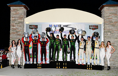 16-19 March, 2016, Sebring, Florida USA<br /> 31, Chevrolet, Corvette DP, P, Eric Curran, Dane Cameron, Scott Pruett, 2, Honda HPD, Ligier JS P2, P, Scott Sharp, Ed Brown, Joannes van Overbeek, Luis Felipe Derani, 5, Chevrolet, Corvette DP, P, Joao Barbosa, Christian Fittipaldi, Felipe Albuquerque<br /> ©2016, Richard Dole<br /> LAT Photo USA